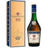 Бренди CHATELLE  XO  0,7л 40% и декантер в подарочной коробке