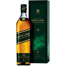 Виски Джонни Уокер Грин Лейбл (Johnnie Walker Green Label 15 y.o.) 1 литр